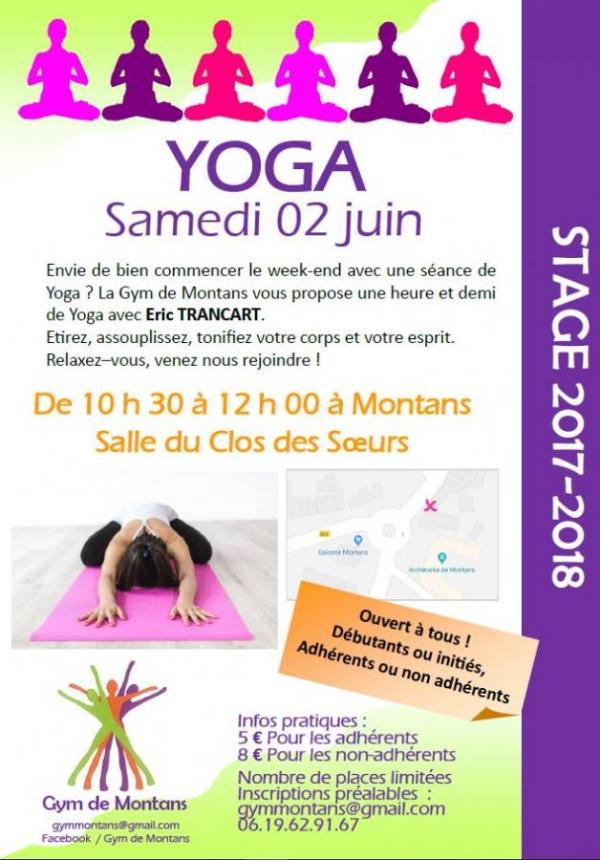 Stage yoga juin